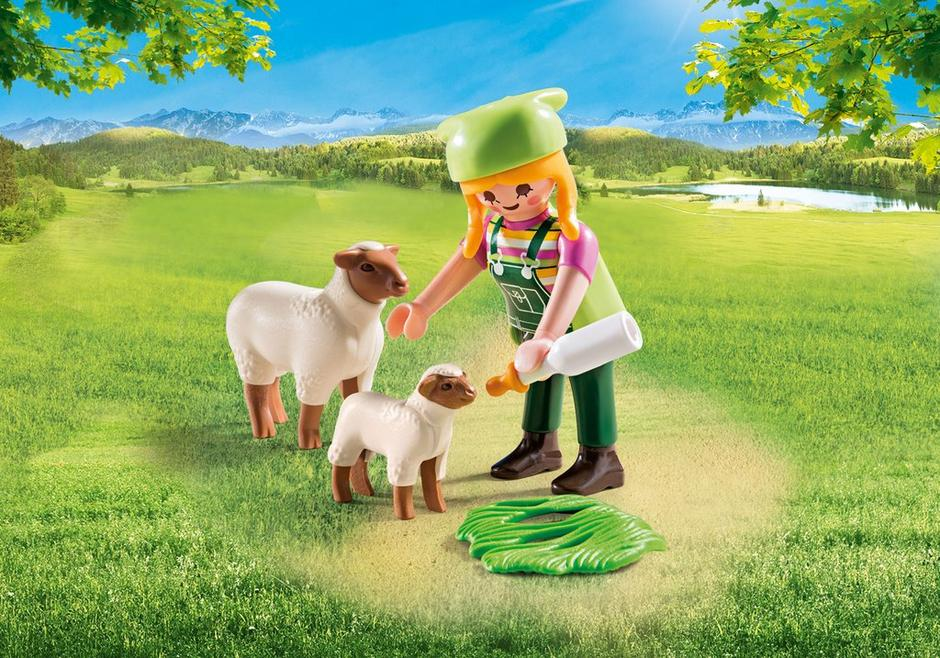 Playmobil Special Plus #9356 Farmer with Sheep - New Factory Sealed