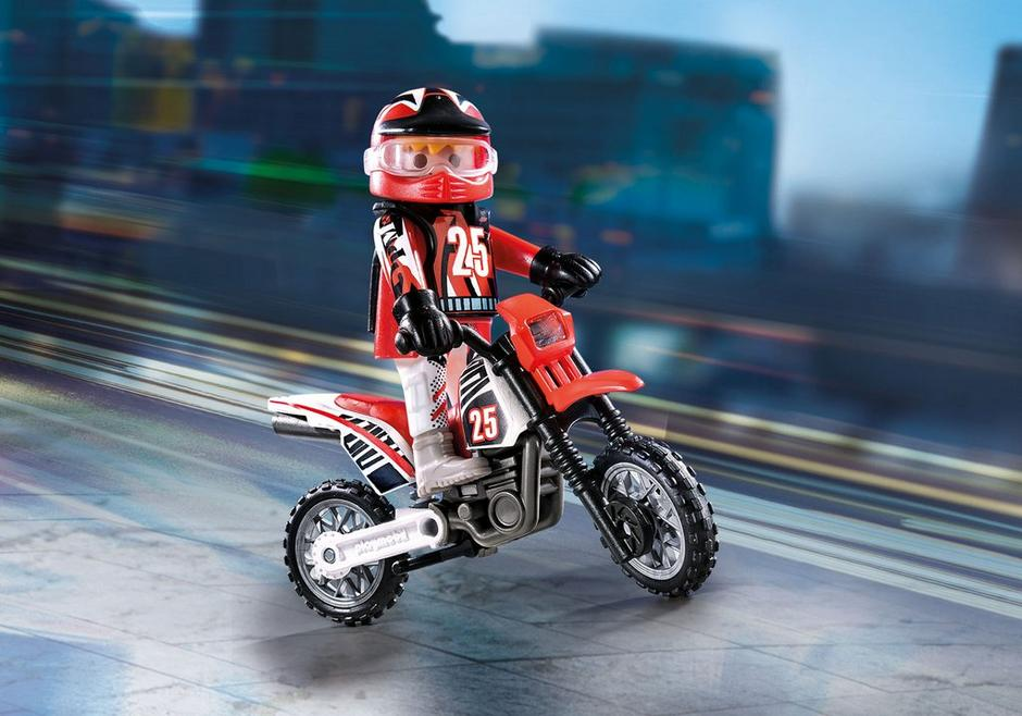 Playmobil Special Plus #9357 Motocross Driver - New Factory Sealed