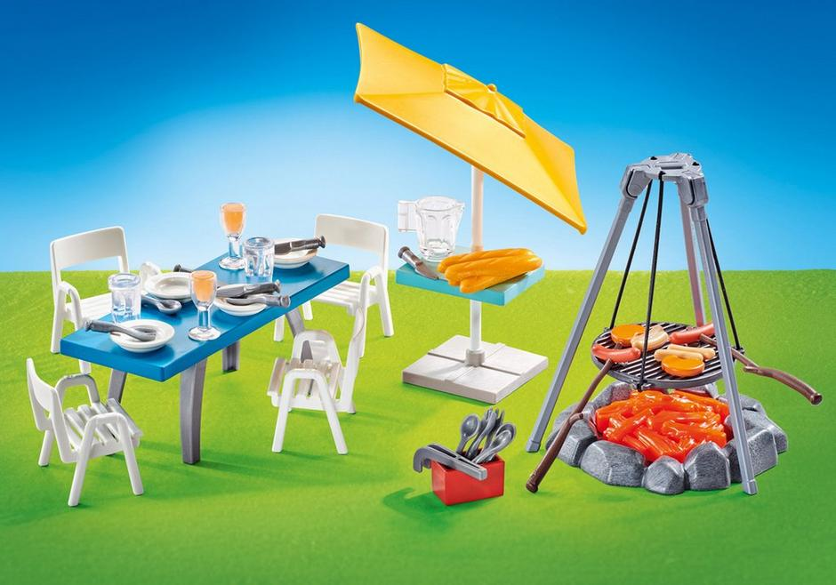 Playmobil Add On #9818 Barbecue with Seating Area - New Factory Sealed