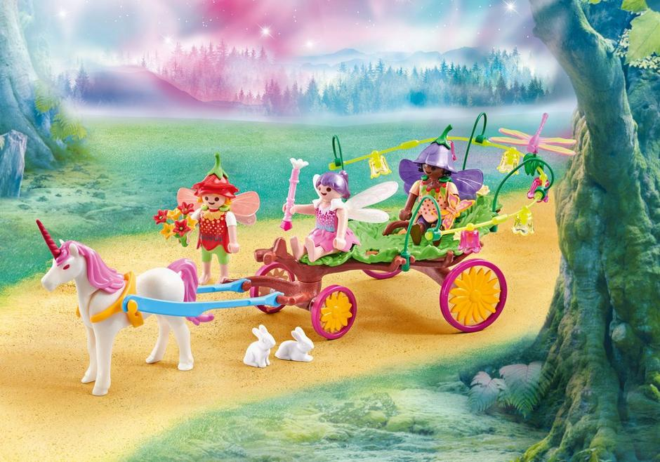 Playmobil Add On #9823 Children Fairies with Unicorn Carriage - New Factory Sealed