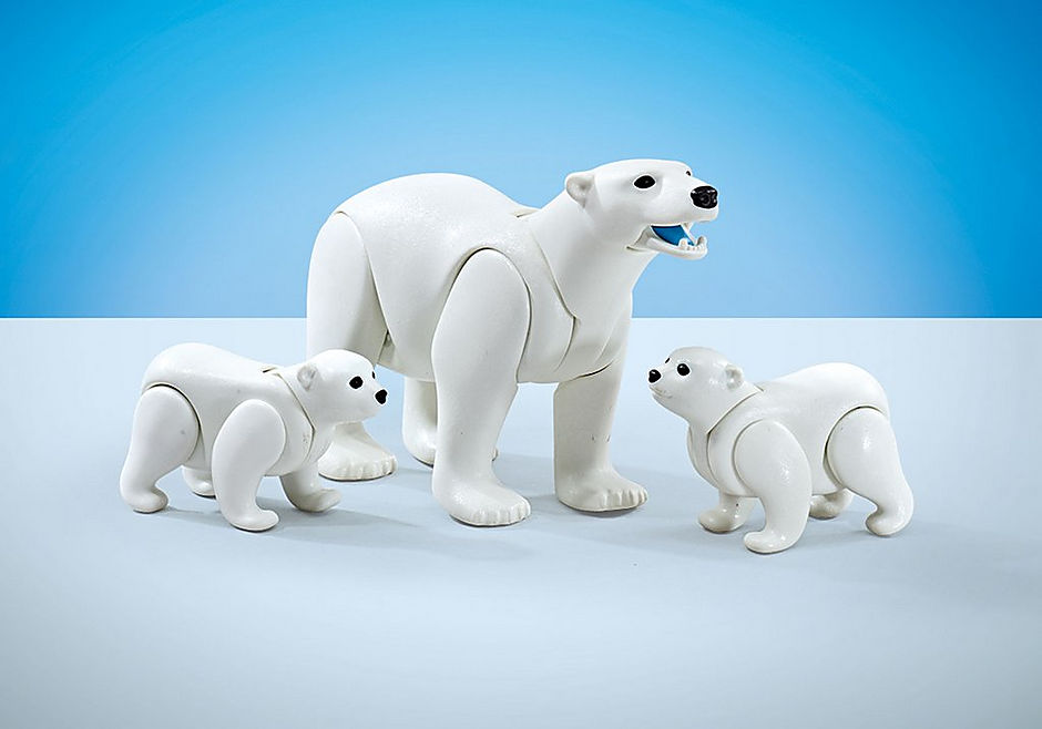 Playmobil Add On #9833 Polar Bear Family - New Factory Sealed