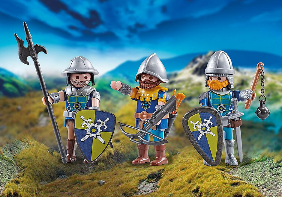 Playmobil Add On #9836 Three Knights of Novelmore New Sealed