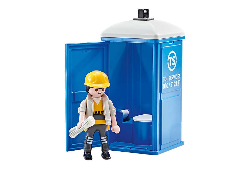 Playmobil Add On #9844 Portable Toilet Porta Potty Toy New Sealed