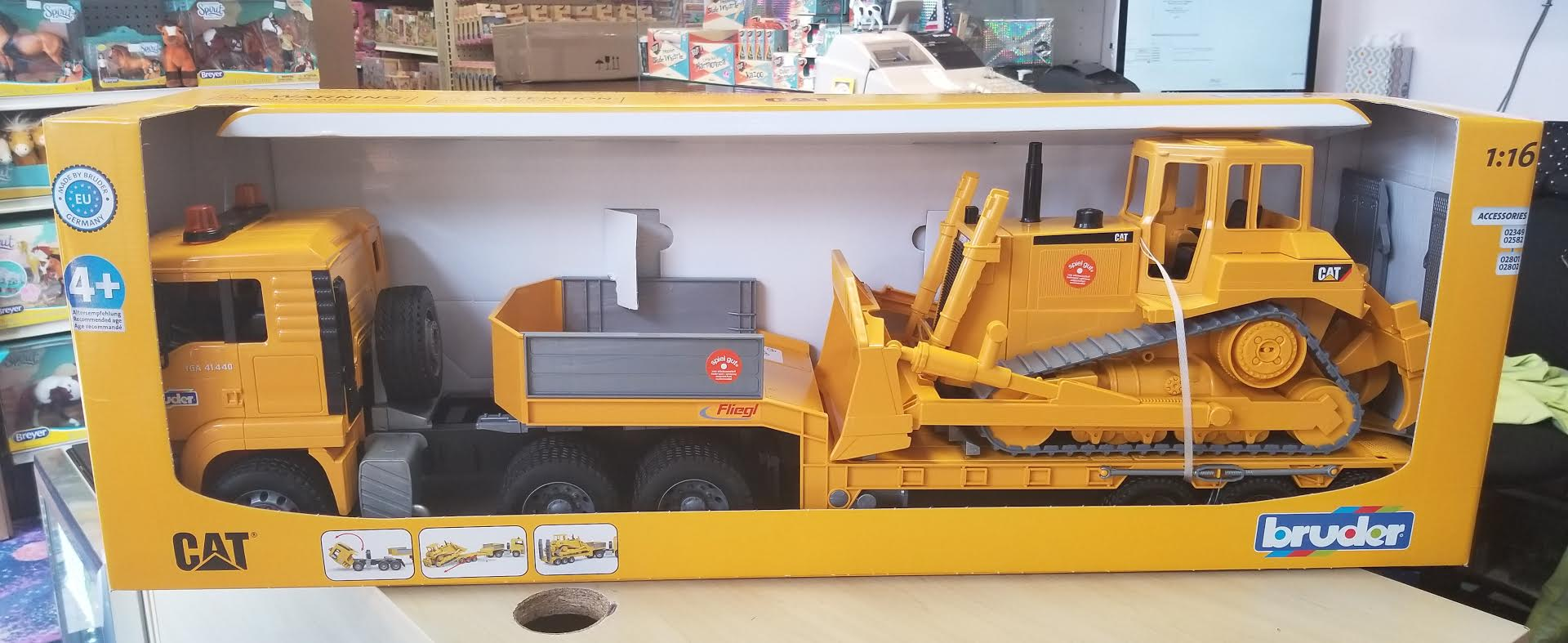 Bruder #02778 MAN TGA Loader Truck with CAT Bulldozer - New Factory Sealed #2778