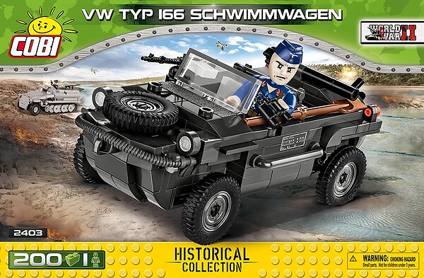 COBI TOYS #2403 VW Type 166 Schwimmwagen- New Factory Sealed!