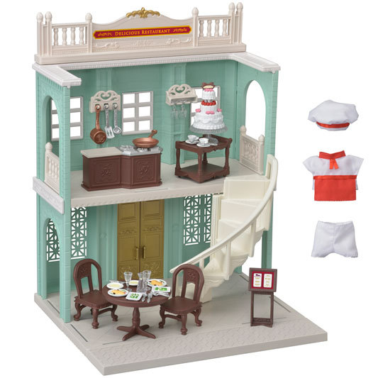 CALICO CRITTERS #CC3012 Delicious Restaurant - New Factory Sealed