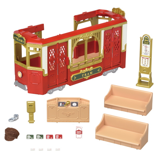 CALICO CRITTERS #CC3015 Ride Along Tram - New Factory Sealed