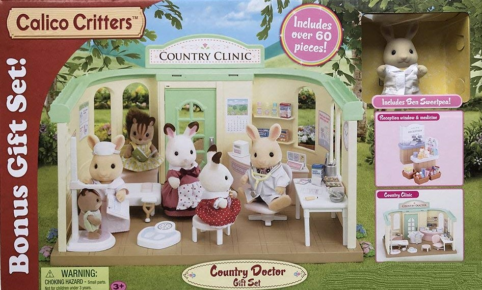 CALICO CRITTERS #CC1766 Country Doctor Gift Set - New Factory Sealed