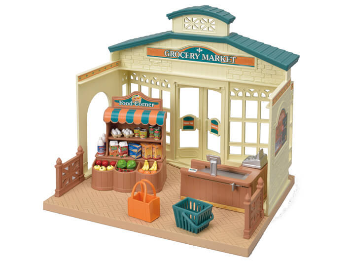 CALICO CRITTERS #CC1788 Grocery Market Stand - New Factory Seale