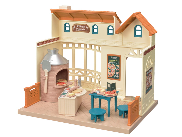 CALICO CRITTERS #CC1801 Village Pizzeria - New Factory