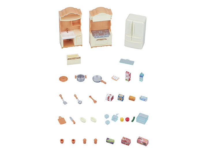 CALICO CRITTERS #CC1810 Kitchen Play Set - New Factory Sealed