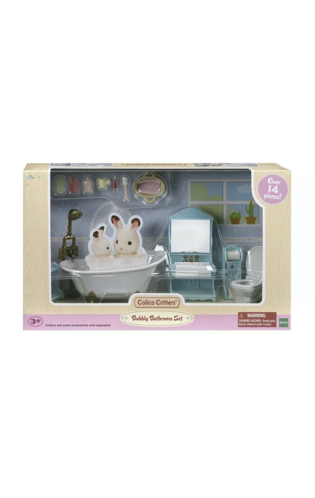 CALICO CRITTERS #1894 Bubbly Bathroom NEW!