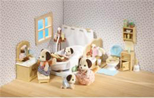 CALICO CRITTERS #CC2480 Deluxe Bathroom Set - New Factory Sealed