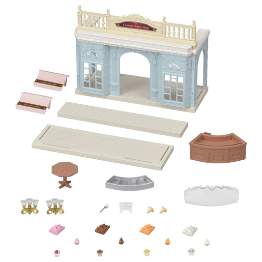 CALICO CRITTERS #CC3014 Creamy Gelato Shop - New Factory Sealed
