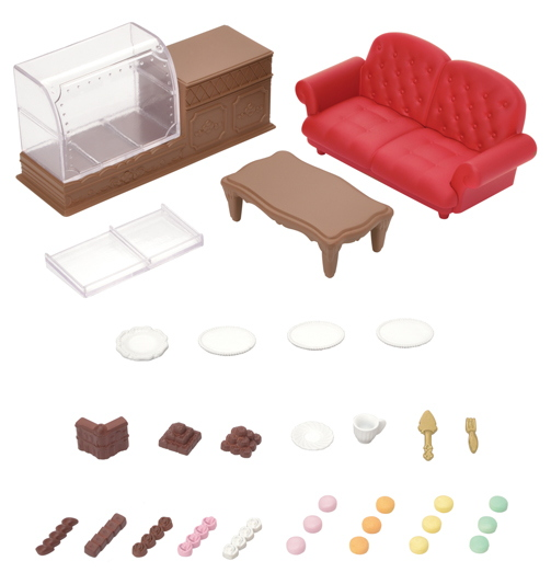 CALICO CRITTERS #CC3021 Chocolate Lounge - New Factory Sealed