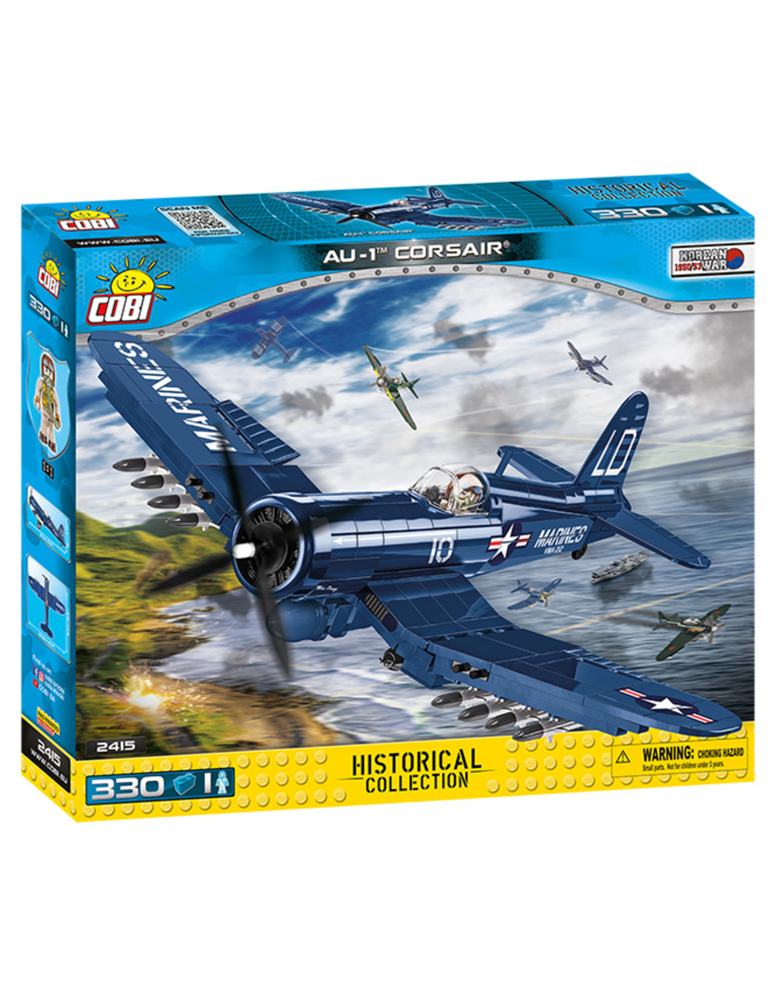 COBI TOYS #2415 Historical Collection Korean War Vought AU-1 Corsair NEW!