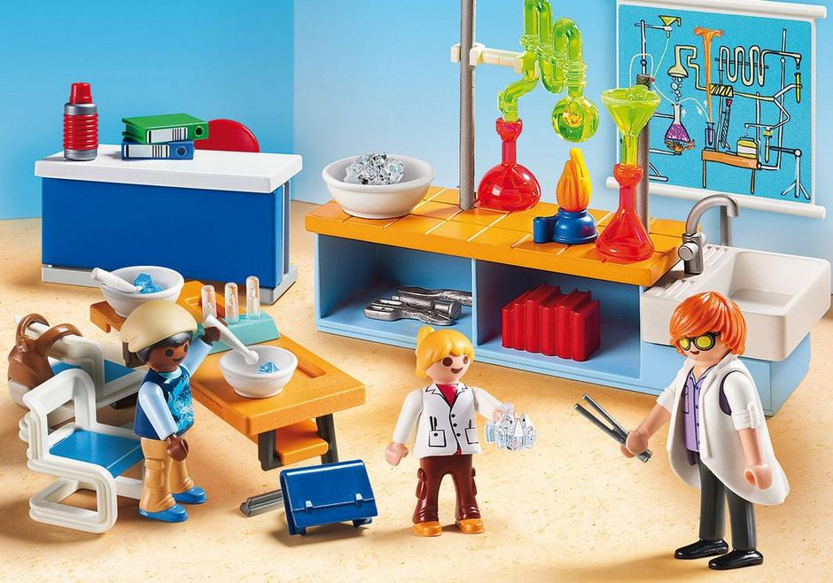 Playmobil #9456 Chemistry Class - New Factory Sealed