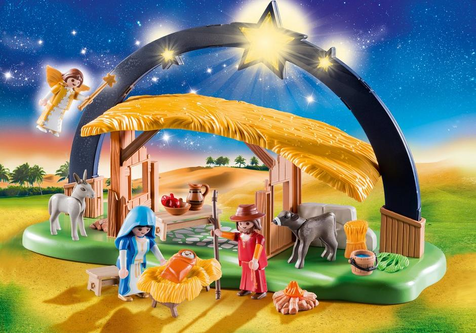 Playmobil #9494 Illuminating Nativity Manger - New Factory Sealed