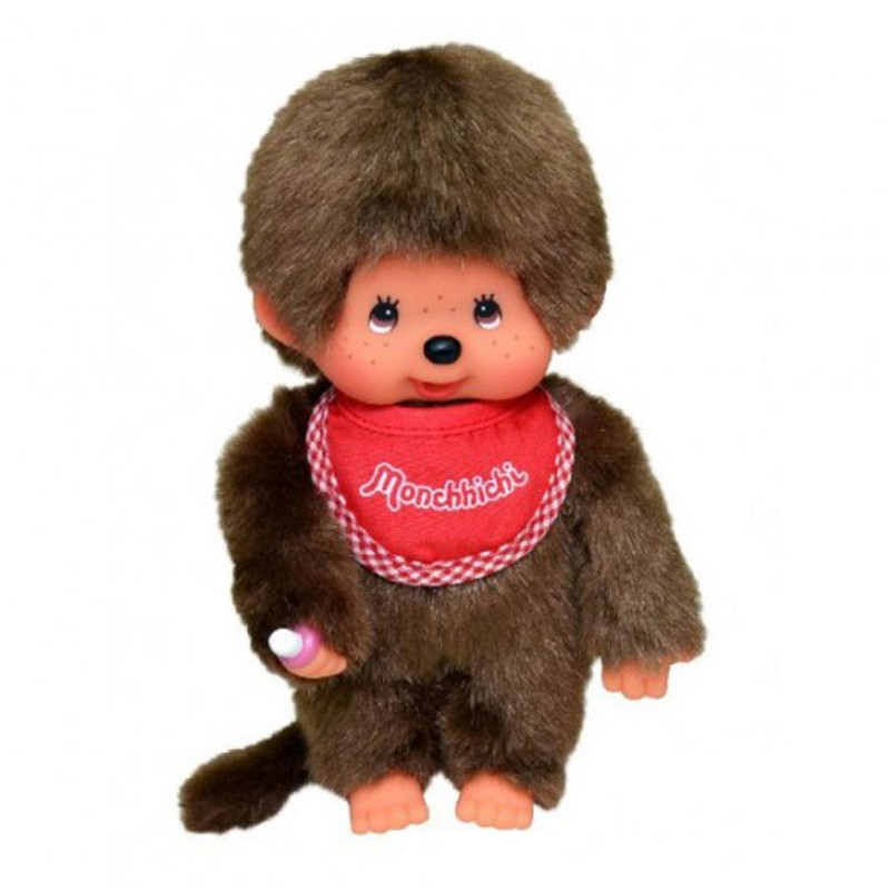 Monchhichi #255010 Boy Doll - Red Bib - Brand New in Package - By Sekiguchi!