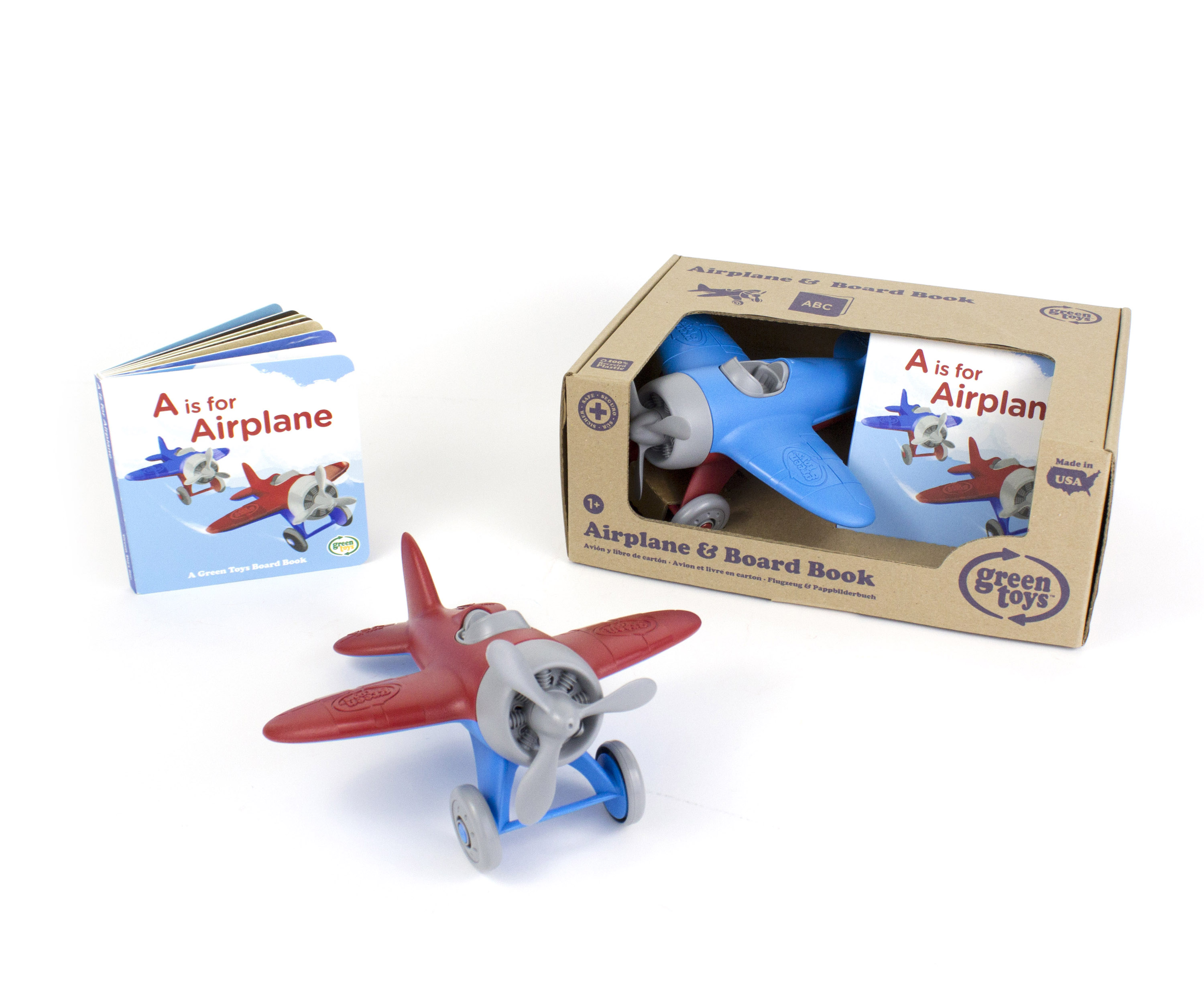Green Toys Airplane and Board Book Set - New Factory Sealed