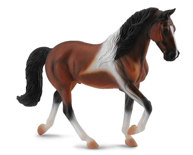BREYER CollectA #88450 Bay Pinto Tennessee Walking Horse Stallion- New!