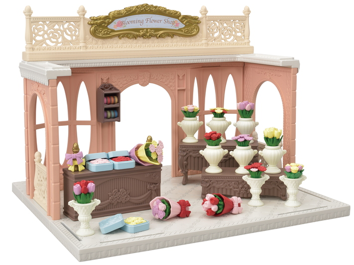 CALICO CRITTERS #CC3033 Blooming Flower Shop - New Factory Sealed