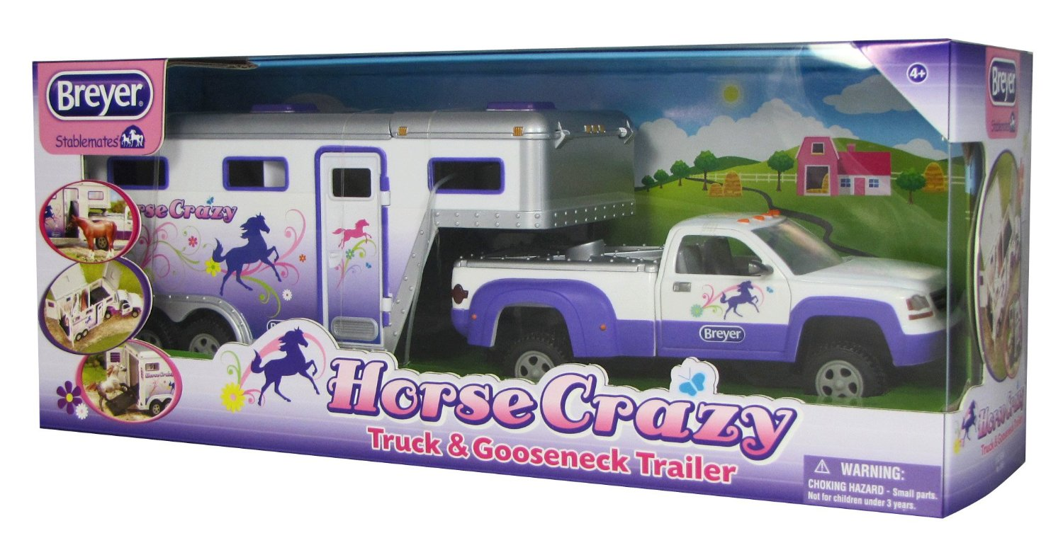 Breyer Stablemates #5369 Horse Crazy Truck and Trailer! (Holds 3 Horses) -New-Factory Sealed - Click Image to Close