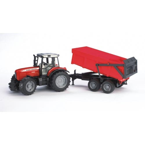 Bruder #02045- Massey Ferguson 7480 w/ Tipping Trailer!-new! #2045