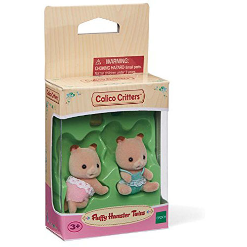Calico Critters #CC1491 Fluffy Hamster Twins - New Factory Sealed