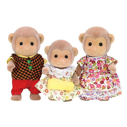Calico Critters #CC1489 Mango Monkey Family - New Factory Sealed