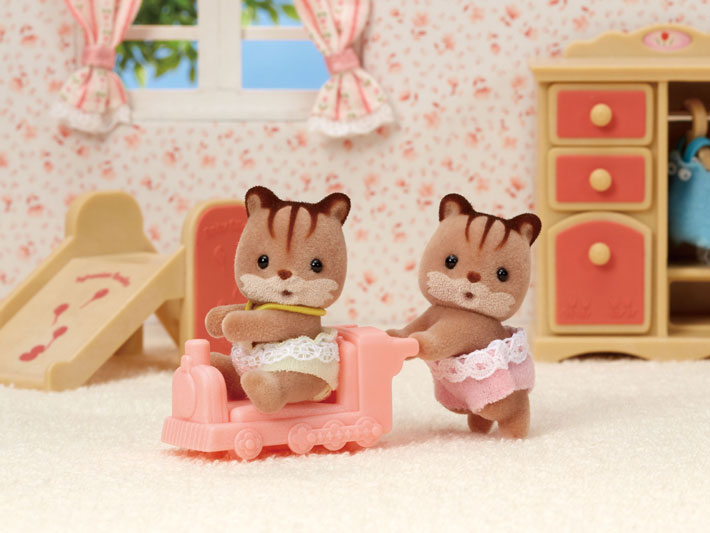 CALICO CRITTERS #CC1481 Hazelnut Chipmunk Twins - New Factory Sealed
