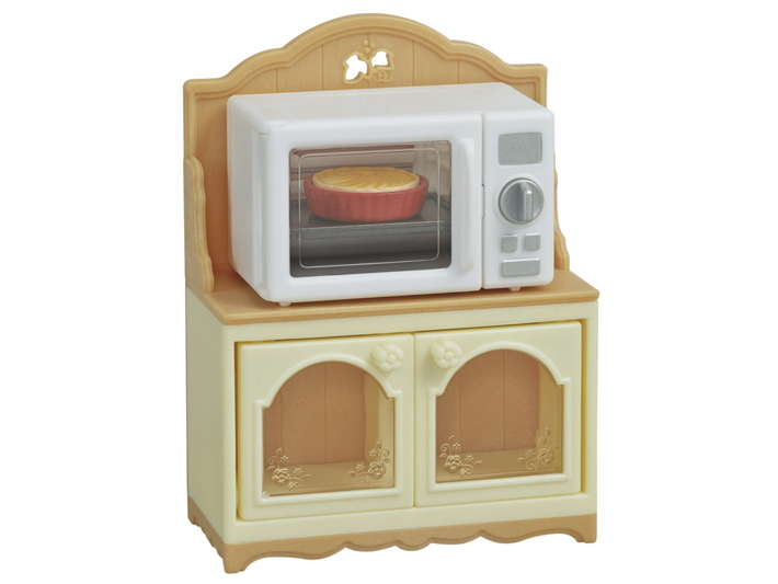 CALICO CRITTERS #CC1835 Microwave Cabinet Set - New Factory Sealed