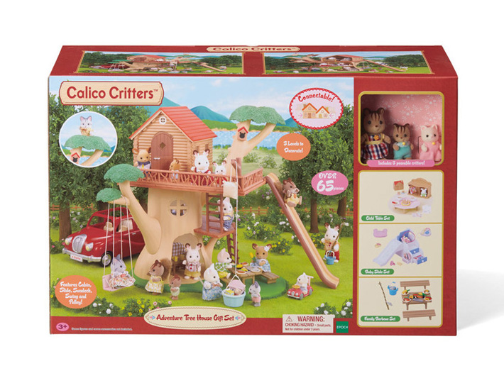 CALICO CRITTERS #CC2067 Adventure Treehouse Gift Set - New Factory Sealed