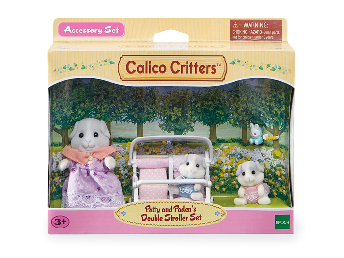 CALICO CRITTERS #CC2625 Patty and Paden's Double Stroller Play Set - New Factory Sealed