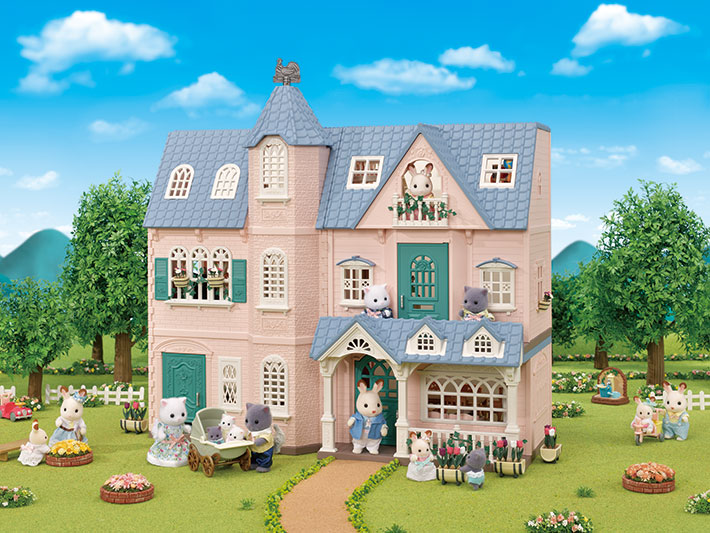 CALICO CRITTERS 35th Anniversary #CF5521 Deluxe Celebration Home Gift Set Ltd Edition!