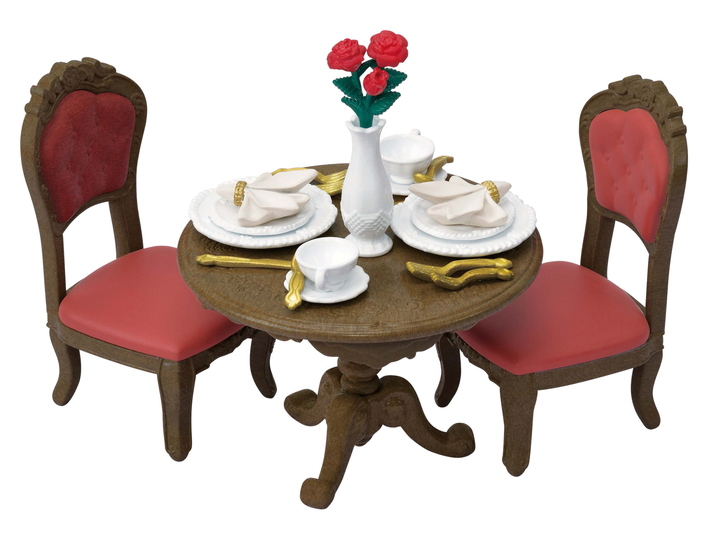 CALICO CRITTERS #CC3046 Chic Dining Table Set - New Factory Sealed
