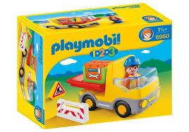 Playmobil 1.2.3 #6960 Construction Truck! New Factory Sealed!