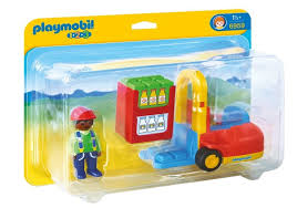 Playmobil 1.2.3 # 6959 Forklift! New Factory Sealed!