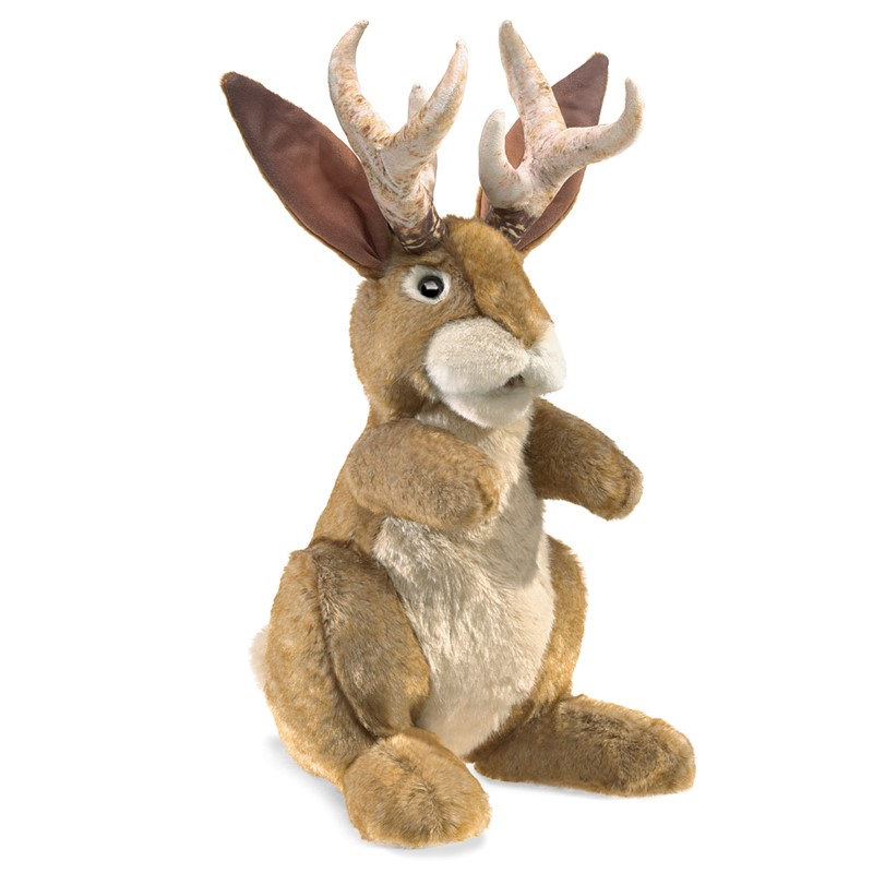 Folkmanis Hand Puppet Jackalope - New #3117