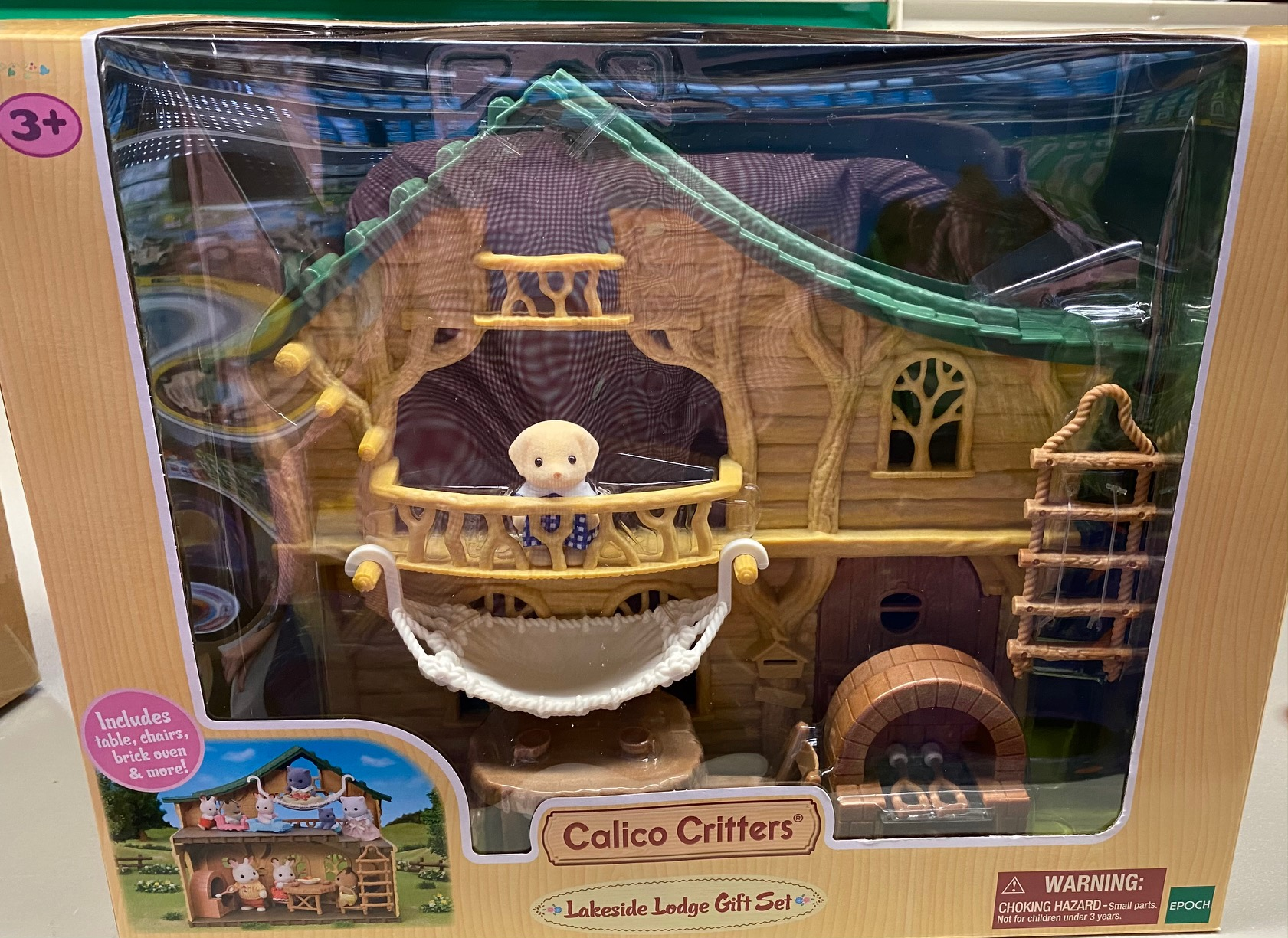 CALICO CRITTERS #1884 Lakeside Lodge Gift Set- New Factory Sealed!