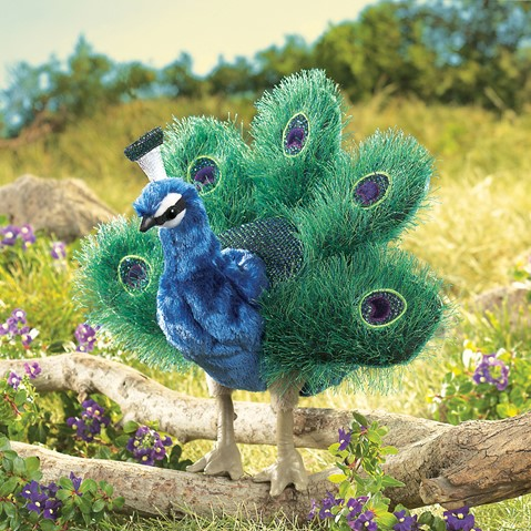 Folkmanis Hand Puppet Peacock - New #2834