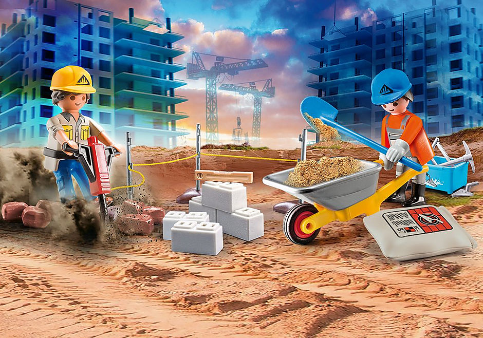 Playmobil #70528 Construction Site Carry Case- New Factory Sealed!