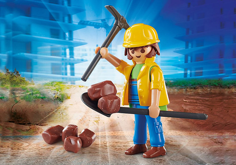 Playmobil Playmo-Friends #70560 Construction Worker- New Factory Sealed!