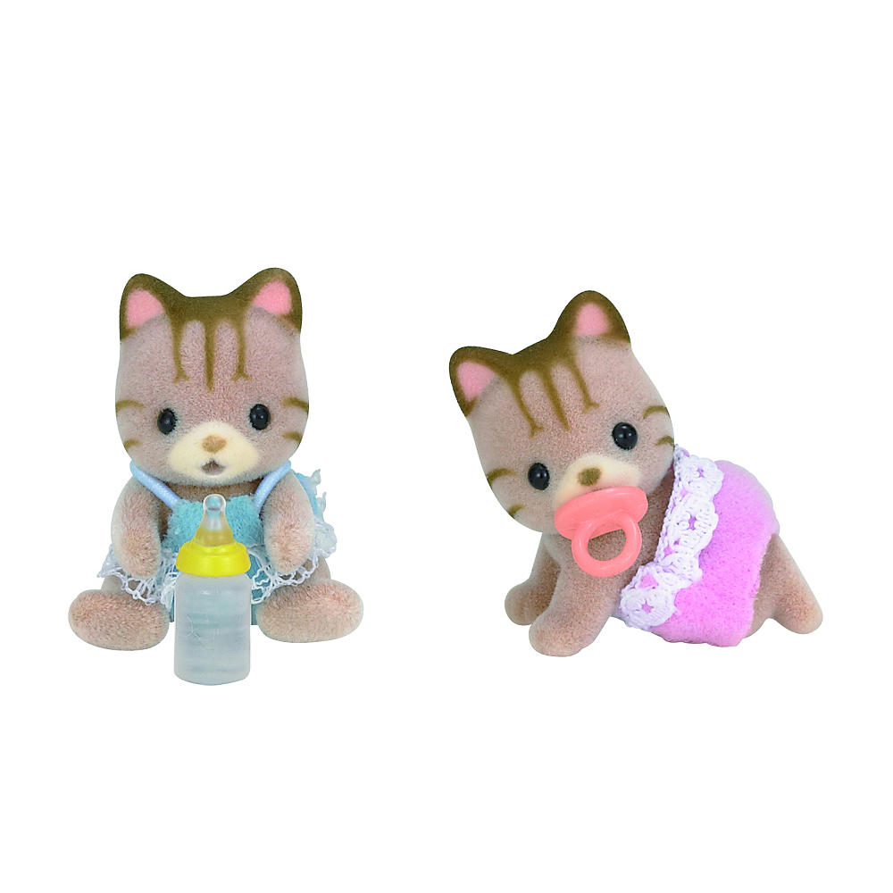 CALICO CRITTERS #CC1407 Sandy Cat Twins - New in Box