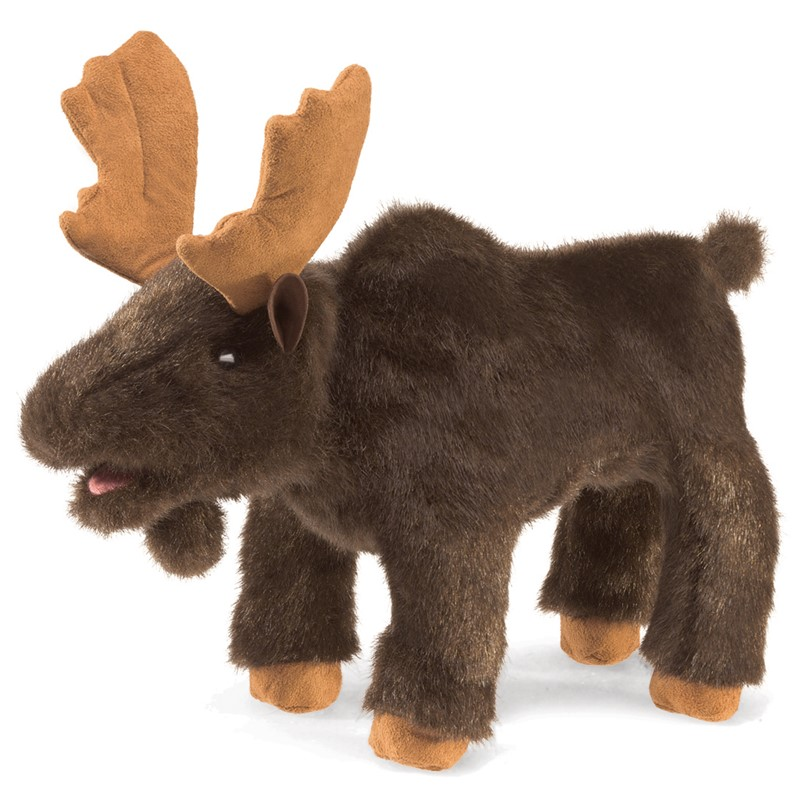 Folkmanis Hand Puppet Small Moose - New #3109