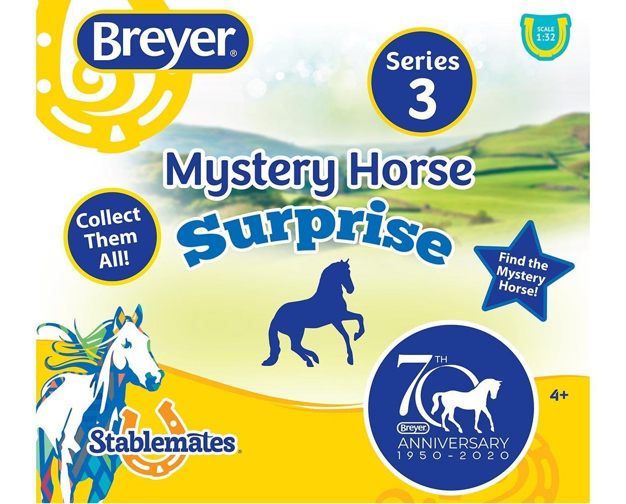BREYER #6051 70th Anniversary Mystery Horse Assortment - FULL SEALED 24 PC CASE