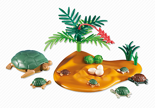 Playmobil Add On #6420 Turtle with Babies! New Factory Sealed!