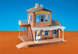 Playmobil Add On #6462 Western Train Station! New Factory Sealed!